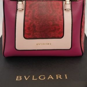 BVLGARI  Serpenti Limited Edition snakeskin Tote